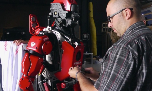 "Red Hero ""Homeland"" robot"