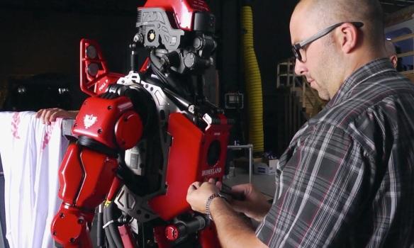 "Red Hero ""Homeland"" robot"