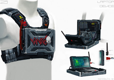 original art for Sandro armor computer