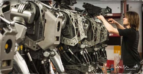 Robots being built at Weta Workshop