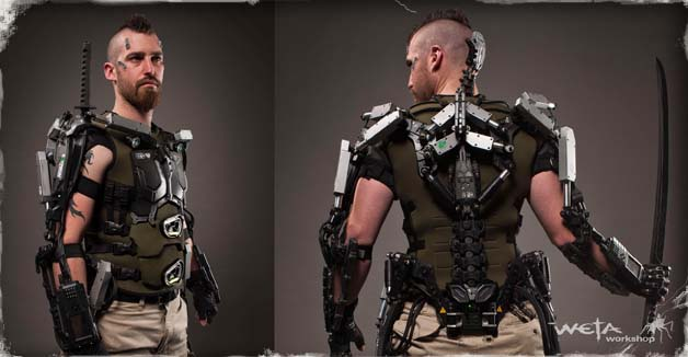 The    Elysium    story Part 9 Building a better Hulc suitMilitary Exosuit
