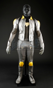 Bernard stunt suit with holes in legs